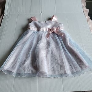 Rare Editions Pink & Silver Formal Toddler Dress